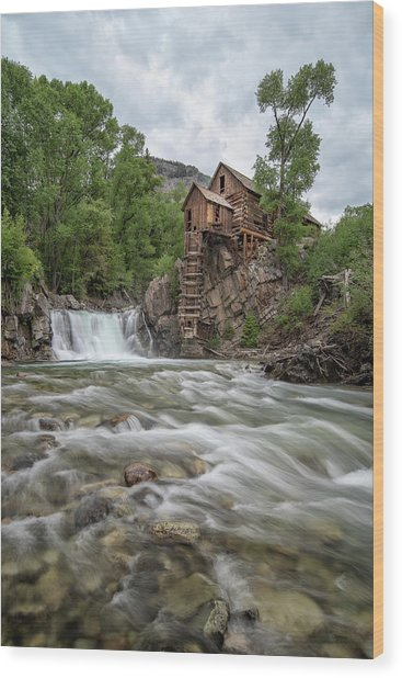 Crystal Mill Colorado 2 Wood Print