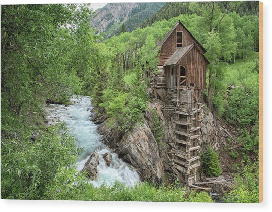 Crystal Mill Colorado 3 Wood Print