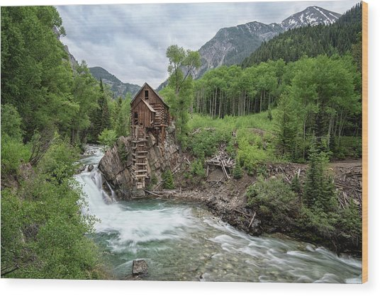 Crystal Mill Colorado 4 Wood Print