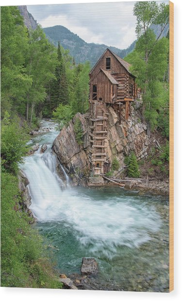 Crystal Mill Colorado Wood Print