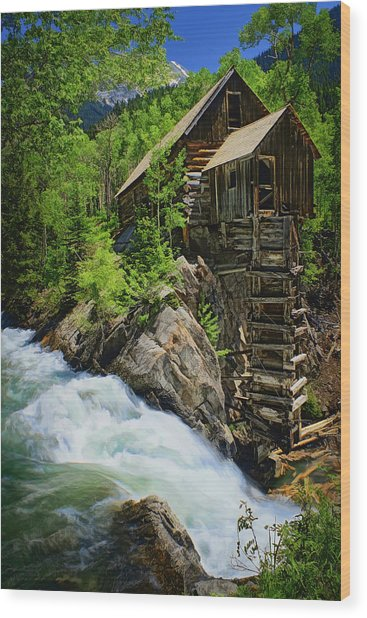 Crystal Mill Wood Print
