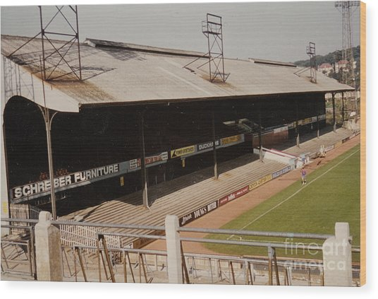 Crystal Palace - Selhurst Park - West Main Stand 2 - 1980s Wood Print
