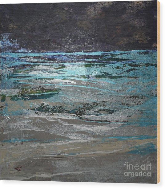Crystal Sea Wood Print by Donna McLarty
