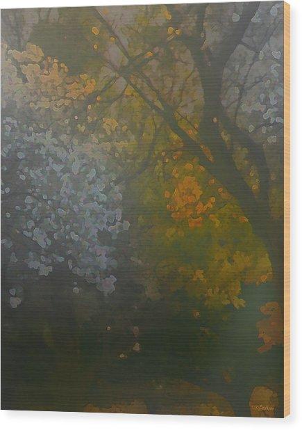 Crystal Tree Wood Print