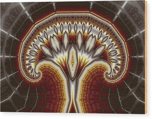 Crystal Tree No. 2 Wood Print by Mark Eggleston