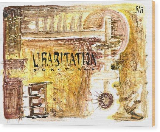 Cuarto Menguante Wood Print by Armando Ruiz
