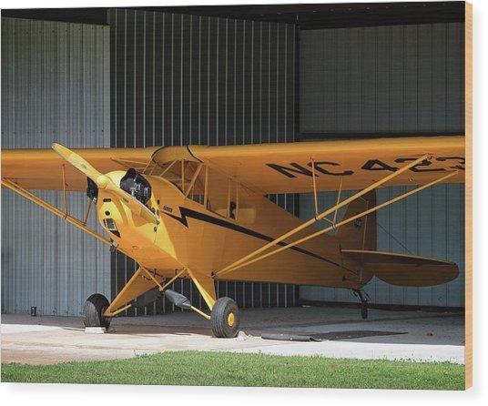 Cub Hangar 0 2017 Christopher Buff, Www.aviationbuff.com Wood Print