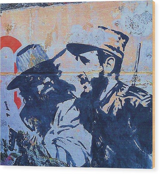 Cuba Fidel Che Wood Print by Yury Bashkin