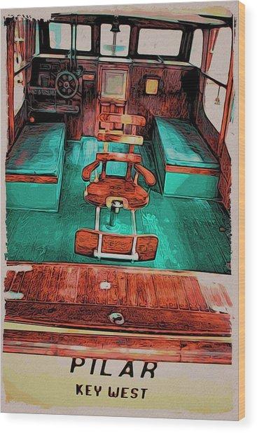 Cuba Hemingway Pilar Wood Print