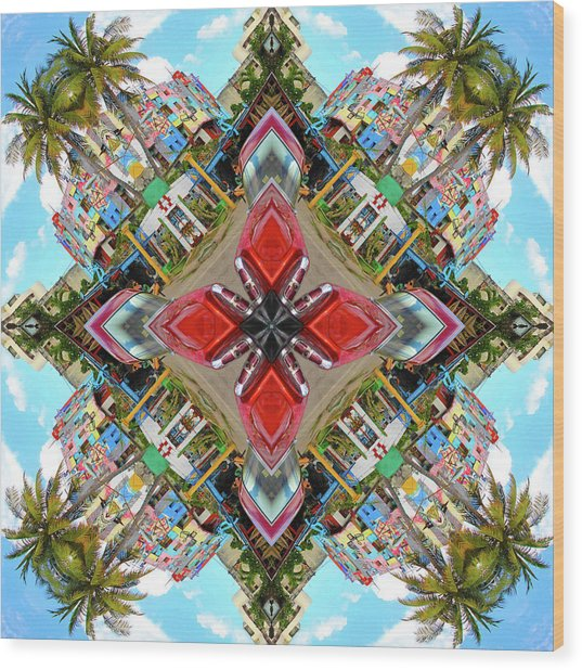 Cuban Kaleidoscope Wood Print