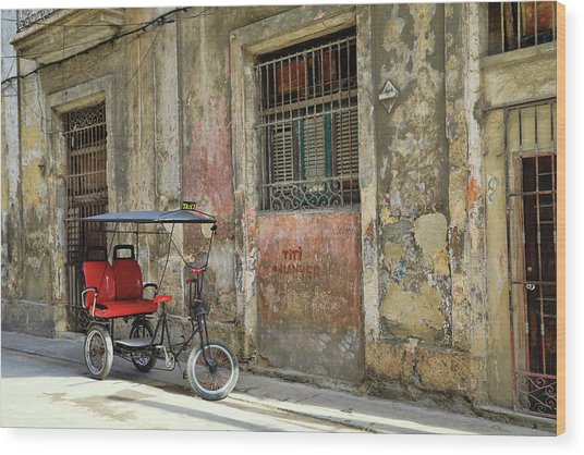 Cuban Uber Wood Print