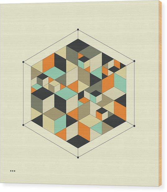Cube 1 Wood Print