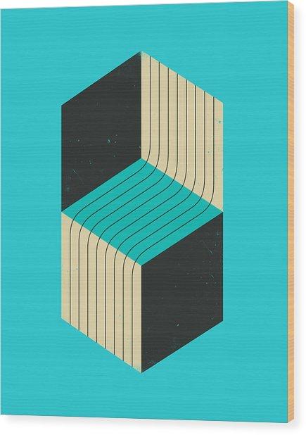 Cubes 7 Wood Print