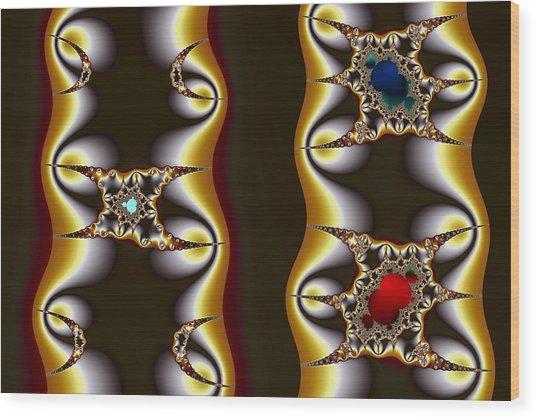 Cubics Mandelbrot And Crescents Wood Print by Mark Eggleston