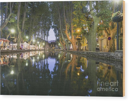 Wood Print featuring the photograph Cucuron Village Provence  by Juergen Held