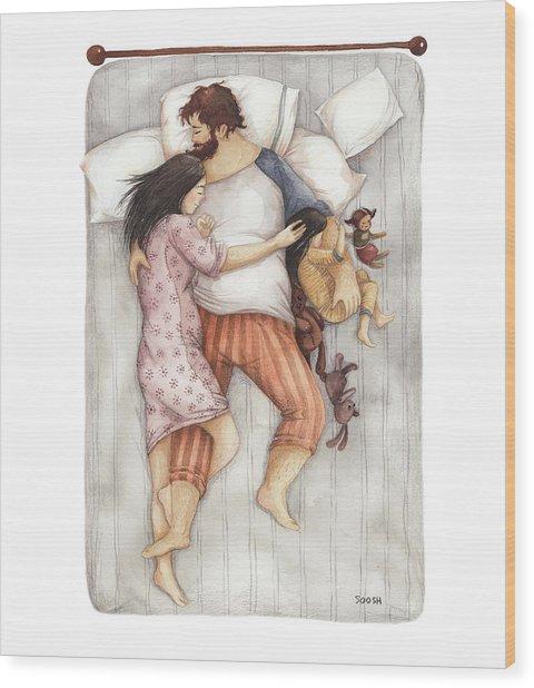 Cuddles Wood Print