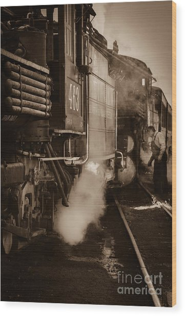 Cumbres And Toltec Steam Train  Wood Print by Scott and Amanda Anderson