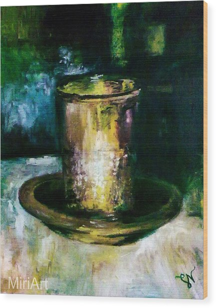 Cup Of Blessing Wood Print