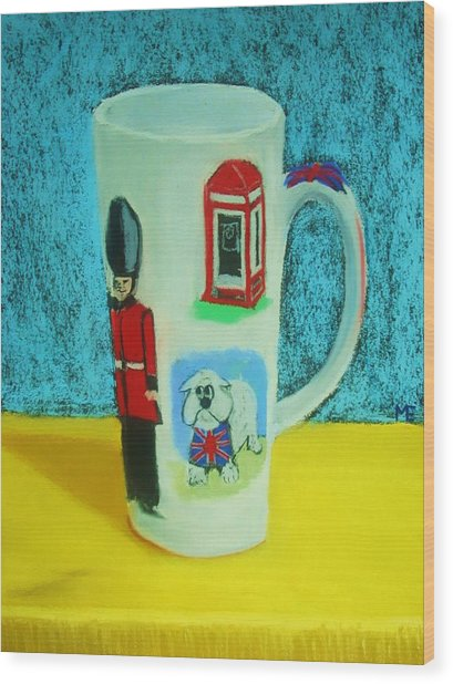 Cup Of London Java Wood Print