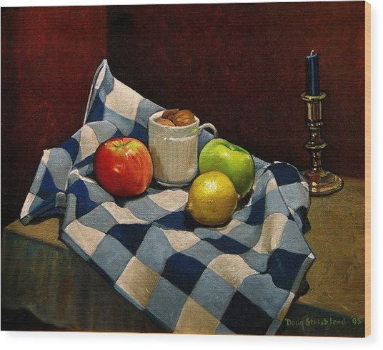 Cupboard Still Life Wood Print by Doug Strickland