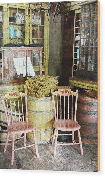 Cupboards Full Of Poetry Wood Print