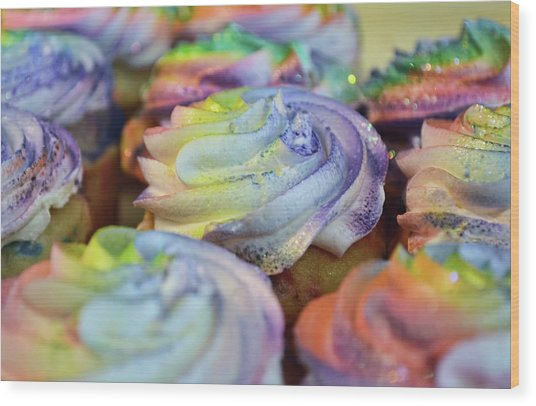 Cupcake Chaos Wood Print by JAMART Photography