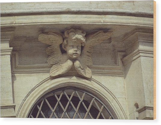 Cupid Protecting Saint Agnes Wood Print by JAMART Photography