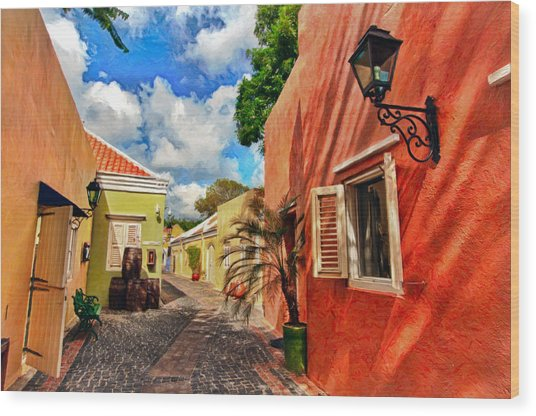 Curacao Colours Wood Print
