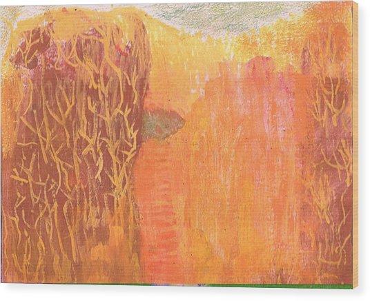 Curious Cove Wood Print by Anne-Elizabeth Whiteway
