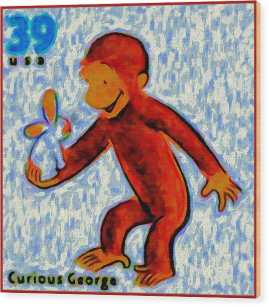 Curious George Wood Print