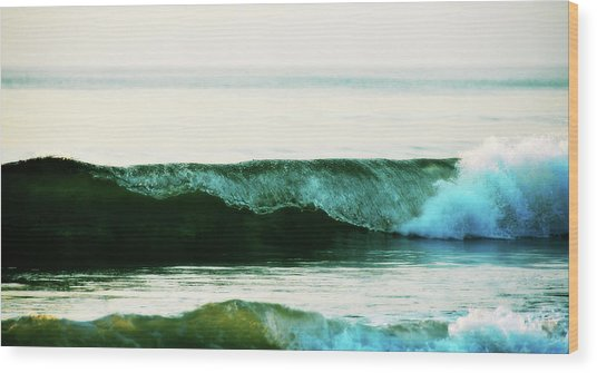 Curling Surf Wood Print by JAMART Photography