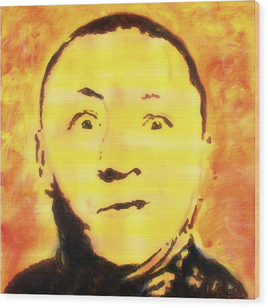 Curly Howard Three Stooges Pop Art Wood Print