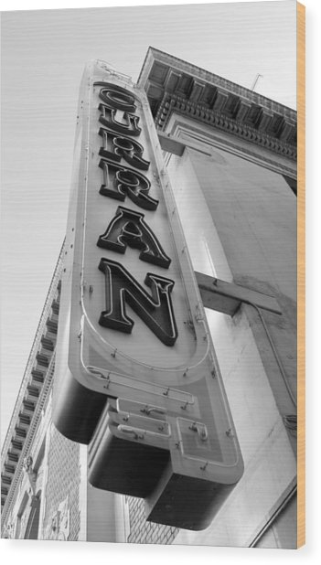 Curran Sign Wood Print by Douglas Pike
