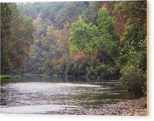 Current River Fall Wood Print