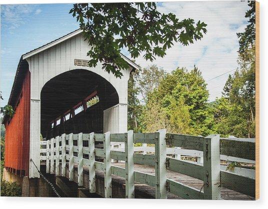 Currin Bridge Wood Print