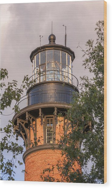 Currituck Beach Lighthouse Close-up Wood Print