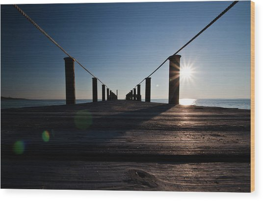 Currituck Sunset Wood Print