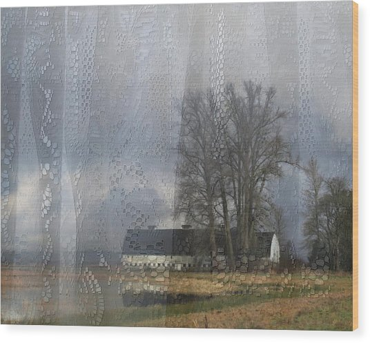 Curtains Of The Mind Wood Print