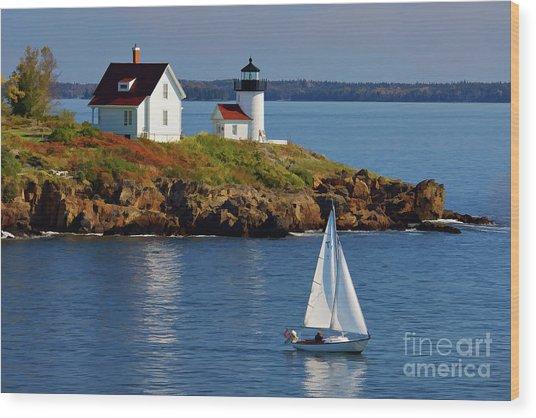 Curtis Island Lighthouse - D002652b Wood Print