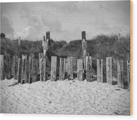 Cushendun Beach Wood Print