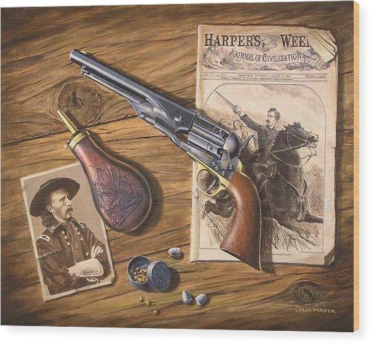 'custer's Colt' Wood Print