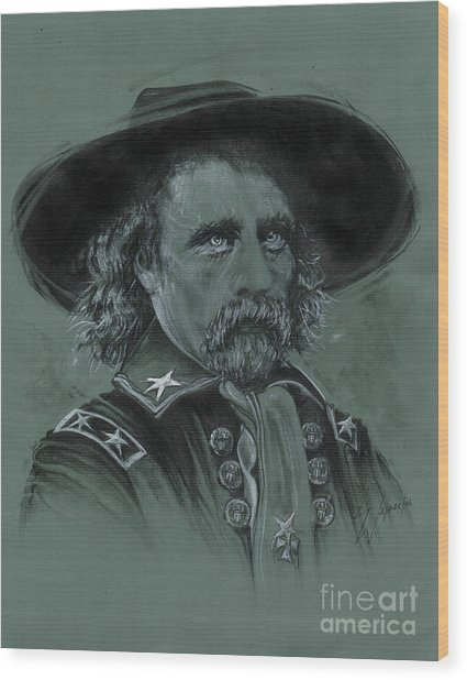 Custer's Resolve Wood Print