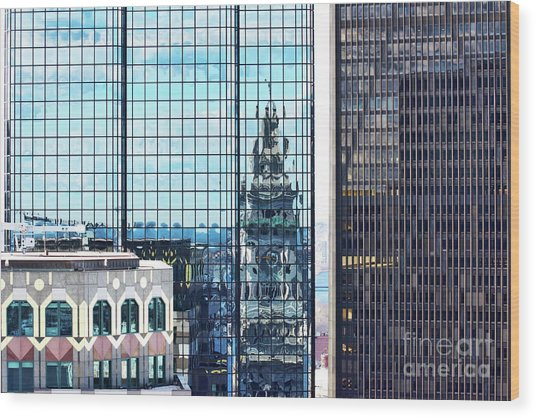 Custom House Reflection Wood Print