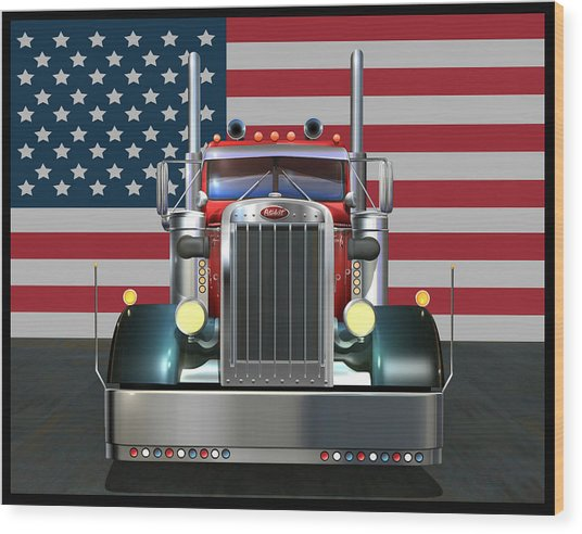 Custom Peterbilt 2 Wood Print