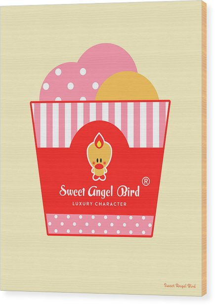 Cute Art - Sweet Angel Bird Ice Cream Party Wall Art Print, Home Decor, Unique Gift Wood Print