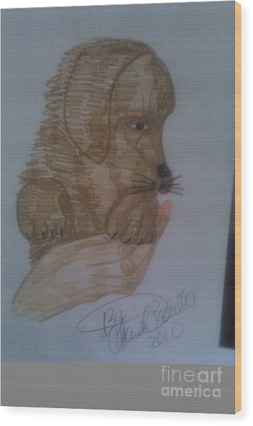 Cute Puppy Wood Print