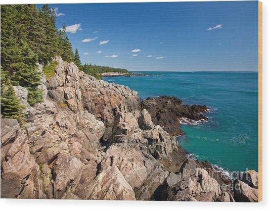 Cutler Cliffs 1 Wood Print
