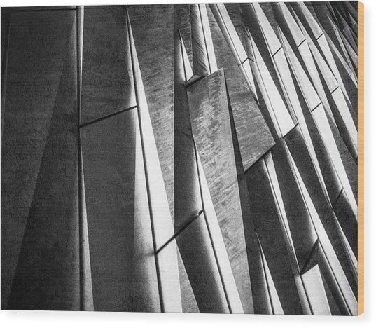Cutting Design At Titanic Belfast Wood Print
