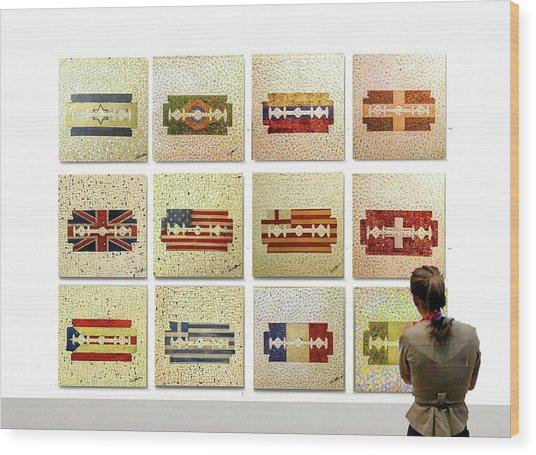 Cutting Edge Exhibit Wood Print by Emil Bodourov