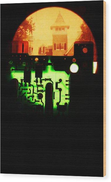 Cyber Plantation Wood Print